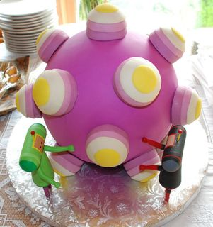 Craftzine.com blog: Katamari Wedding Cake