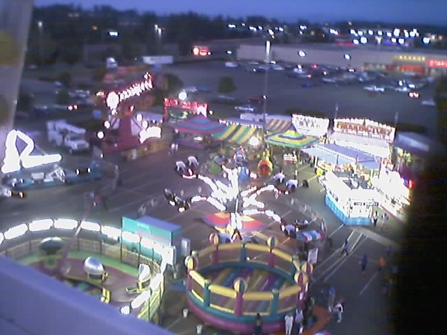 On the ferris wheel