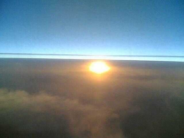 Sun 02/12/2006 17:38 Sunset from plane